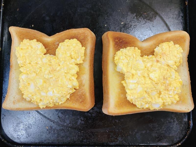 プーさんトースト 卵 レシピ